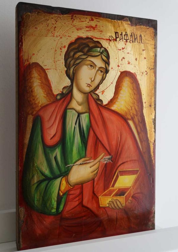 Archangel Raphael Hand-Painted Byzantine Icon