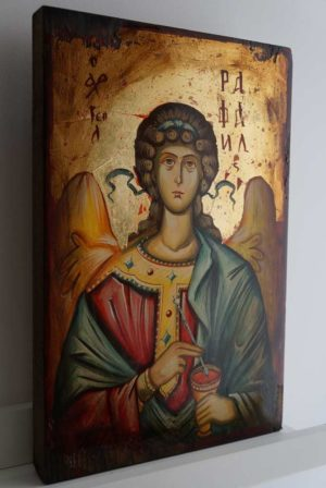 Saint St Archangel Raphael Hand-Painted Orthodox Icon