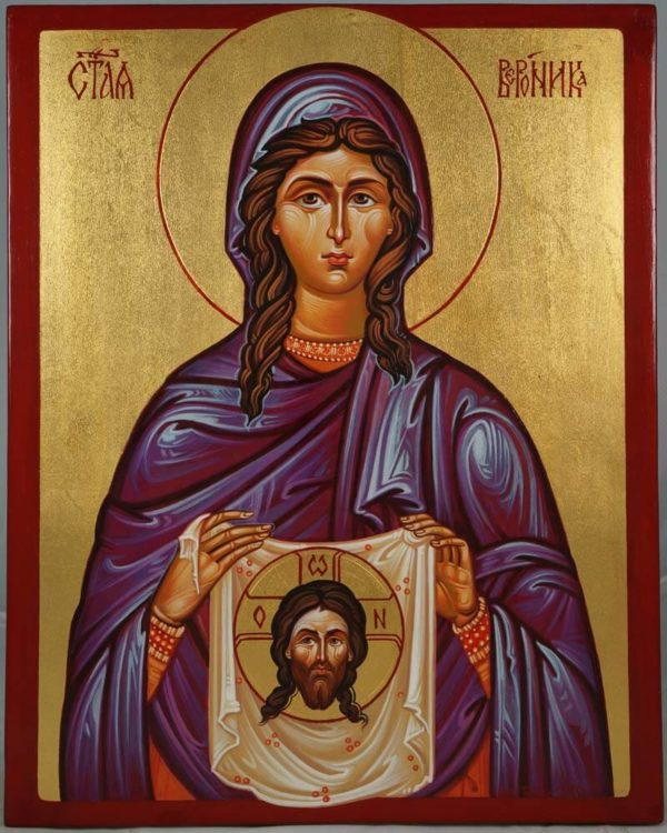 Saint Veronica Hand-Painted Icon