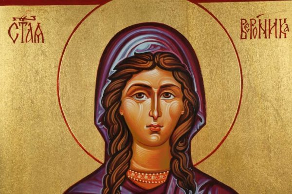 Saint Veronica Hand-Painted Icon