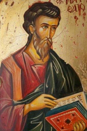 St Matthew Hand-Painted Icon