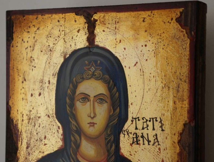 St Tatiana Hand-Painted Icon