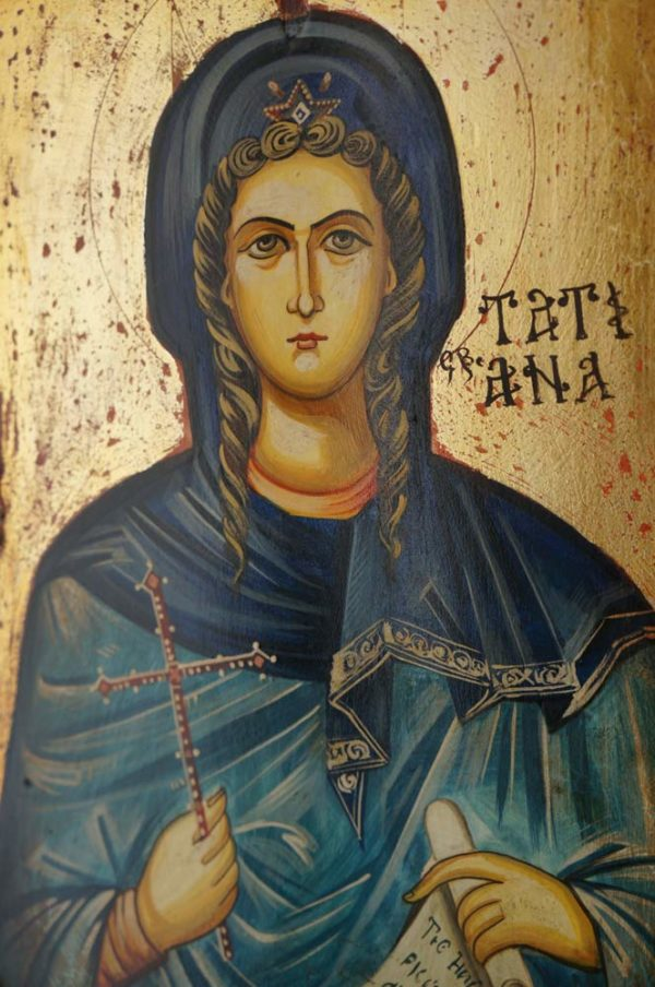 Saint Tatiana Hand-Painted Icon