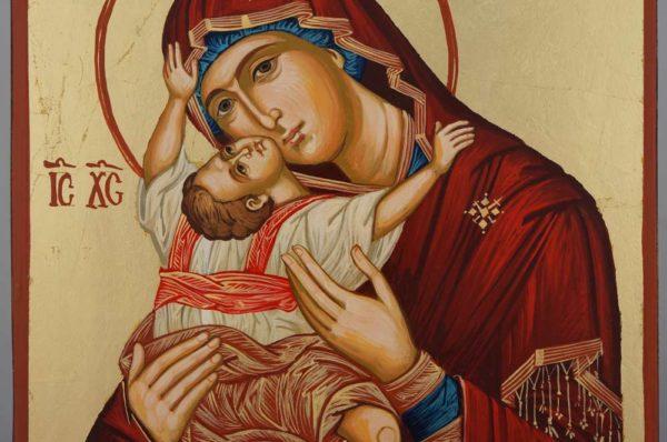 Theotokos Kardiotissa Hand Painted Orthodox Icon on Wood
