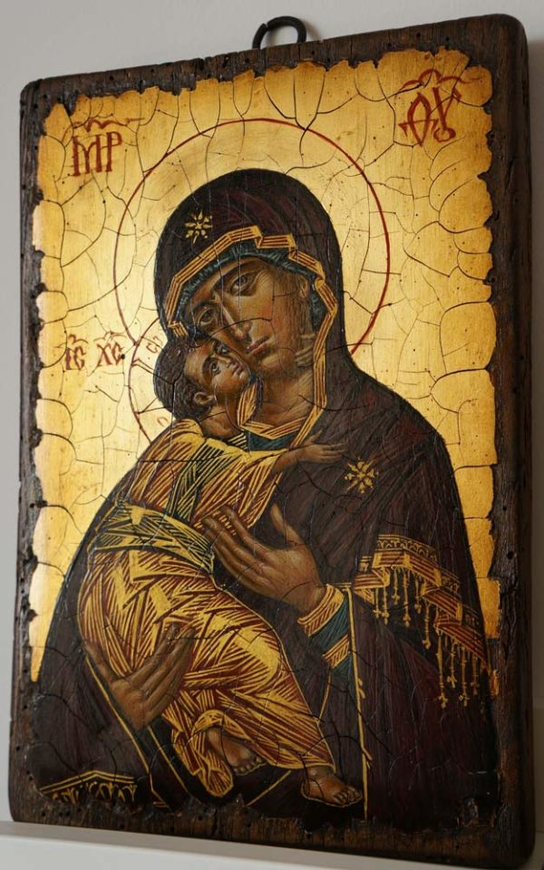 Theotokos of Vladimir 12th c. Hand-Painted Icon