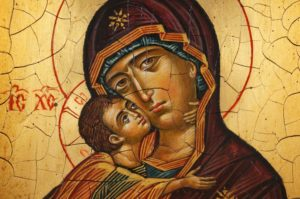 Theotokos of Vladimir Hand-Painted Icon