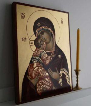 Virgin Mary Vladimirskaya Hand-Painted Orthodox Icon