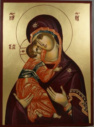 Virgin Mary Vladimirskaya Hand-Painted Orthodox Icon