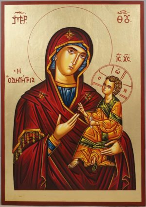 Most Holy Theotokos Hodegetria Hand-Painted Icon