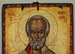 Saint Nicholas of Myra Hand Painted Orthodox Icon Antique Style Icon