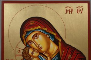 Hand-Painted Orthodox Icon of Theotokos Tender Mercy
