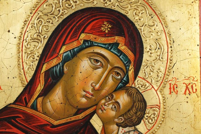 Theotokos Sweet Kissing Hand-Painted Icon