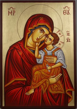 Theotokos Sweet Loving Eleusa Hand-Painted Orthodox Icon
