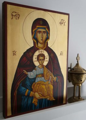 Our Lady of the Sign Hand-Painted Icon