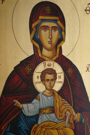 Theotokos Oranta Hand-Painted Icon