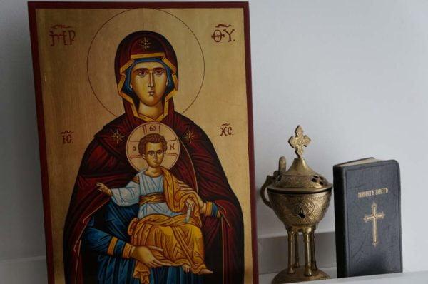 Theotokos Oranta Hand-Painted Icon