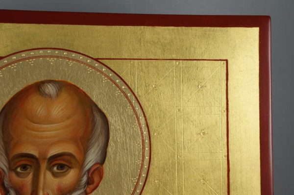 St Nikolaos Hand-Painted Icon Detail