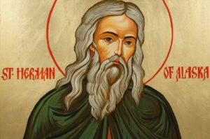 Hand-Painted Orthodox Icon of St Herman of Alaska Large