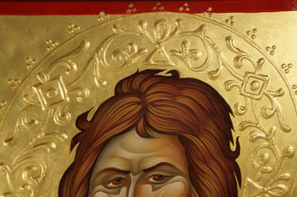 St John the Forerunner Icon Detail