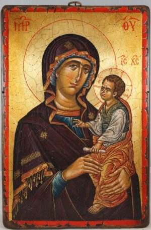 The Virgin Hodegetria Mount Athos Hand-Painted Icon