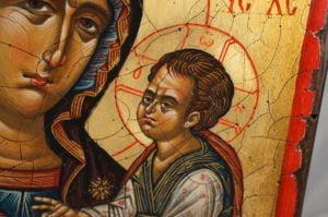 Virgin Mary Hodegetria Hand-Painted Icon