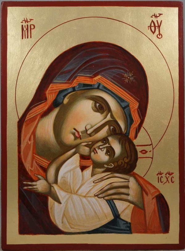 The Virgin Eleusa Hand-Painted Byzantine Icon