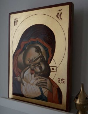 The Virgin Eleusa Hand-Painted Byzantine Icon