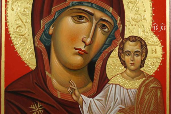 Virgin of Kazan Hand-Painted Byzantine Icon