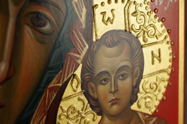 Theotokos of Kazan Hand-Painted Byzantine Icon