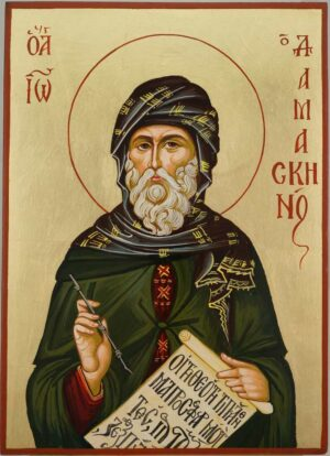 St John of Damascus Hand Painted Orthodox Icon on Wood