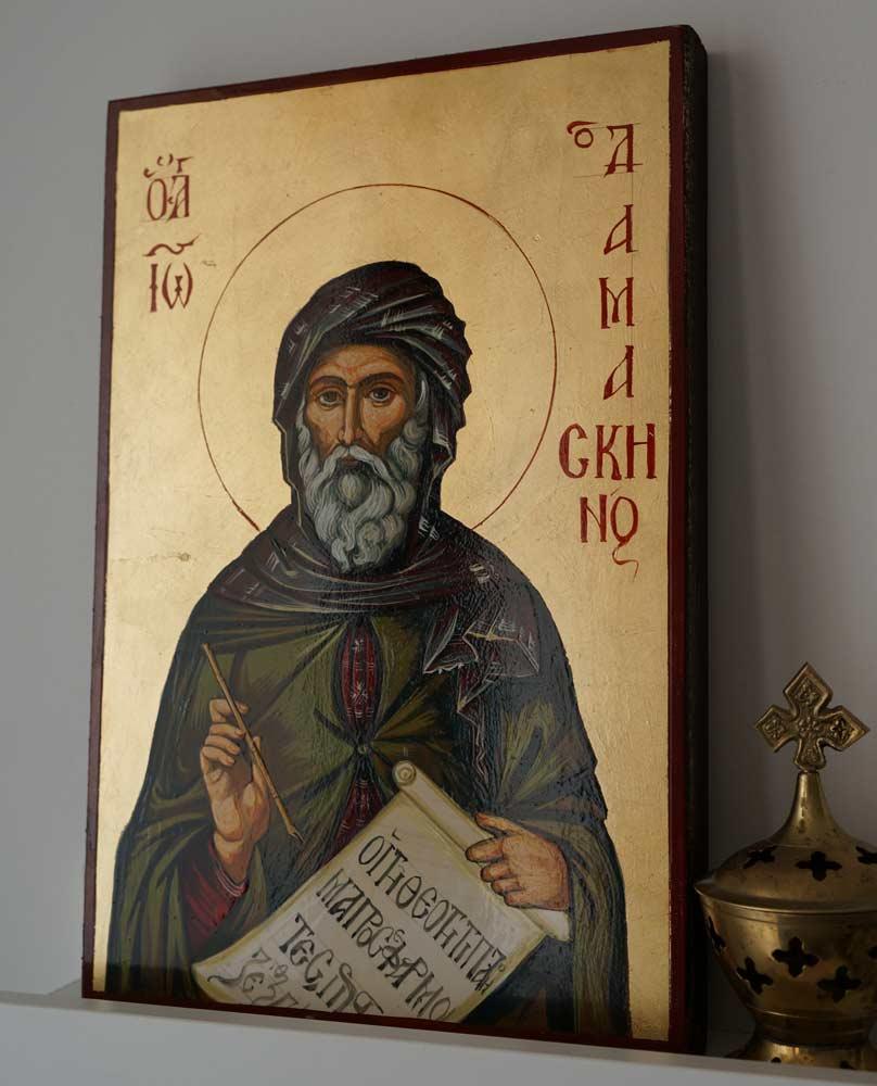 St John of Damascus Hand-Painted Byzantine Icon