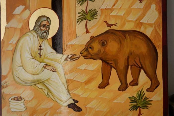 St Seraphim of Sarov Hand-Painted Icon