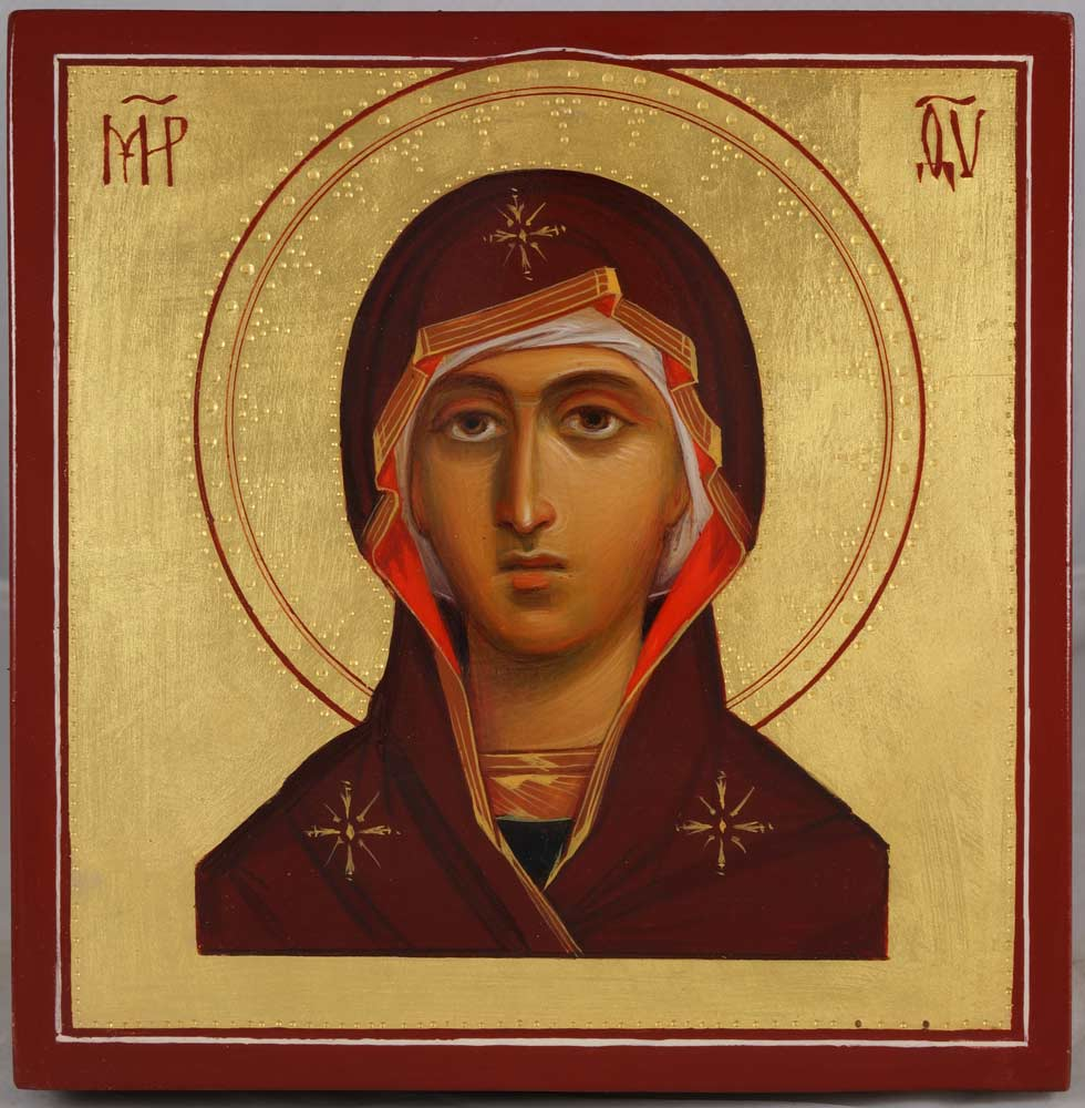 Theotokos Miniature Hand-Painted Icon