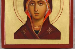 Virgin Mary Hand-Painted Mini Icon