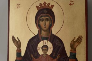 Virgin Mary Inexhaustible cup Hand-Painted Icon