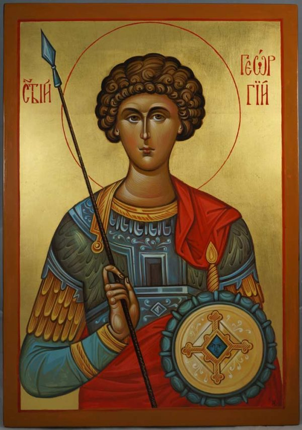 St George of Lydda Hand-Painted Byzantine Icon