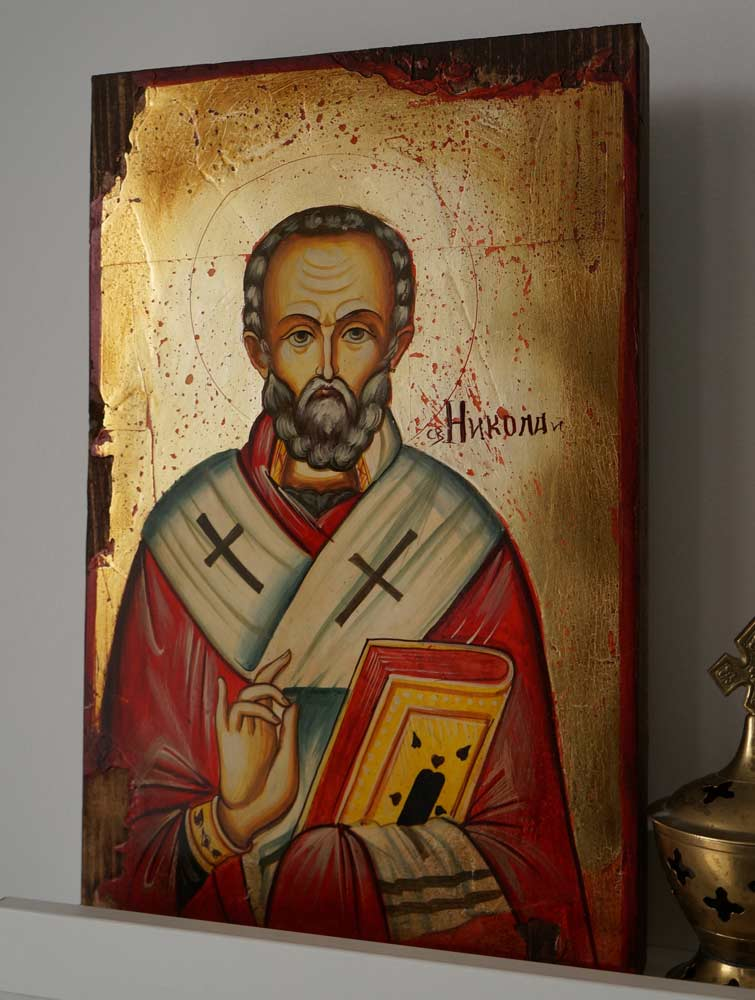St Nikolaos Hand-Painted Orthodox Icon