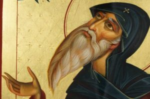 St Stylianos of Paphlagonia Hand-Painted Byzantine Icon Detail