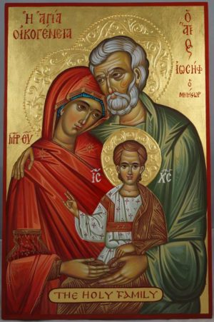 The Holy Family Hand-Painted Cretan Icon