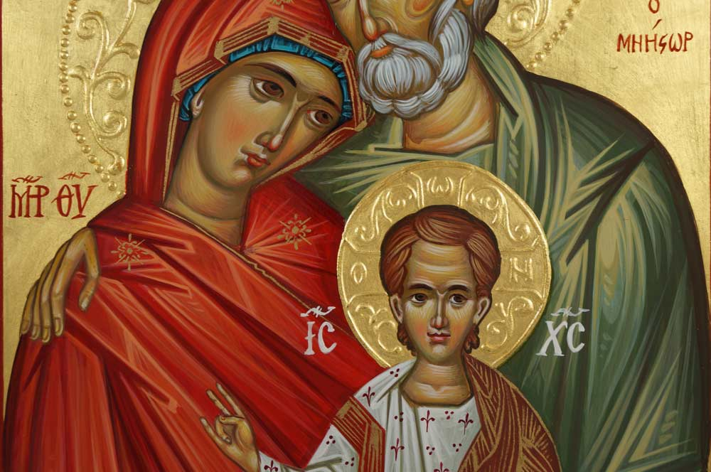 Holy Family Hand-Painted Orthodox Icon