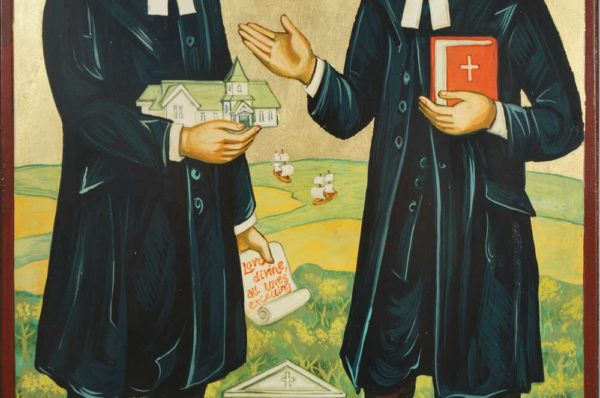 Charles and John Wesley Hand-Painted Icon