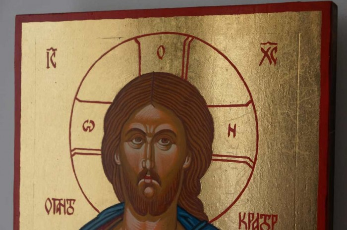 Jesus Christ Pantokrator Hand Painted Byzantine Orthodox Icon