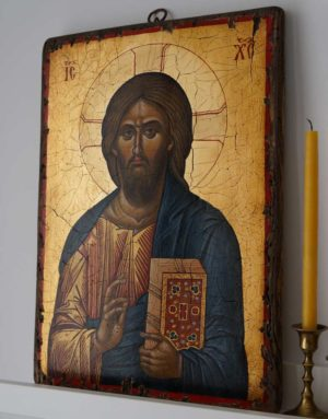 Jesus Christ Pantocrator (Mount Athos) Hand-Painted Icon