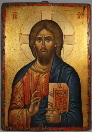 Jesus Christ Pantocrator (Mount Athos) Hand-Painted Icon Hand-Painted Icon