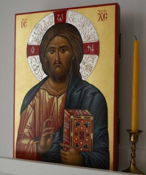Jesus Christ Pantocrator Hand-Painted Icon