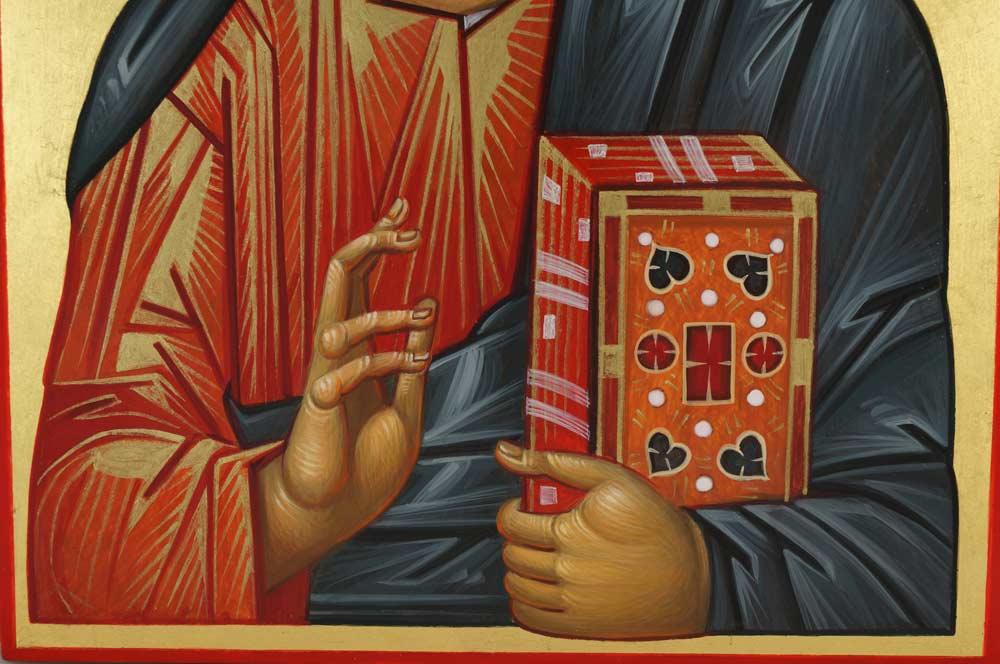 Pantokrator Mount Athos Hand-Painted Byzantine Icon