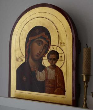 Virgin Mary Kazanskaya Hand-Painted Russian Icon