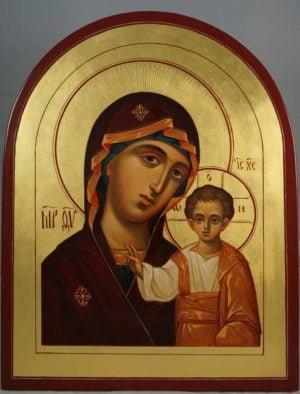 Virgin Mary Kazanskaya Hand-Painted Russian Icon