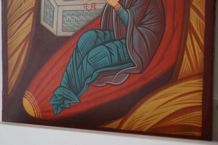 Hand-Painted Orthodox Icon of the Nativity of Christ