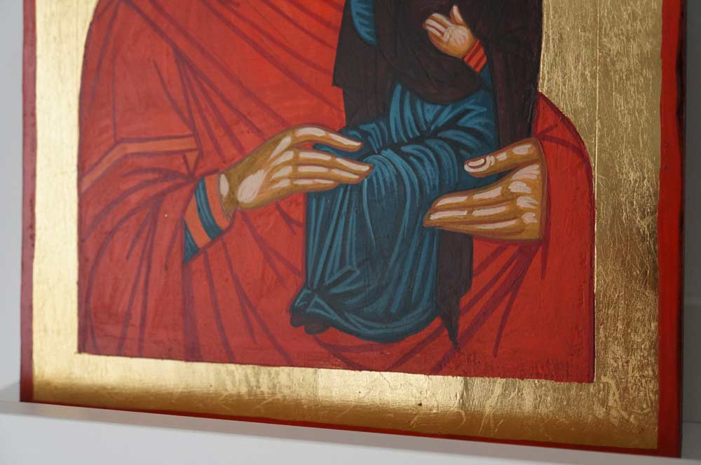 Saint Anna and Mary Hand Painted Orthodox Icon on Wood